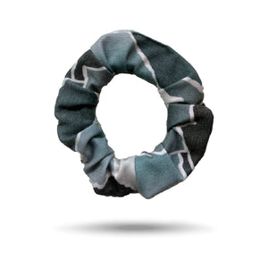 SHREDLY scrunchie, blue ombre mountains