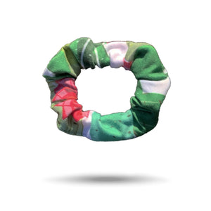 SHREDLY scrunchie, green cactus print