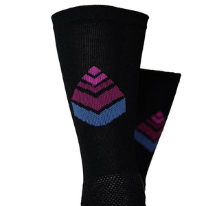 the SOCK 6 : BLACK/LOGO