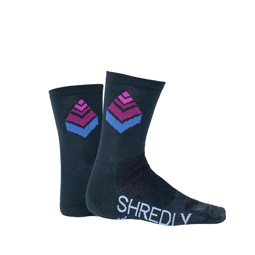SHREDLY - the SOCK 4 : CHARCOAL/LOGO - SHREDLY - SHREDLY - image