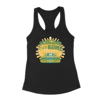 LIMITED EDITION - Drive-In Ladies Tank – Green/Gold