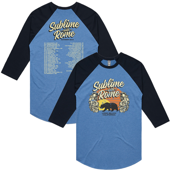 Sublime With Rome - Men's Summer Raglan w/ Tour Dates