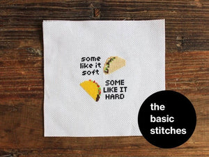 Cross Stitch Kit - Some like it soft, some like it hard