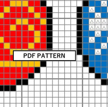 Load image into Gallery viewer, Cross Stitch Pattern - christmas balls