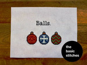 Cross Stitch Kit - christmas balls.