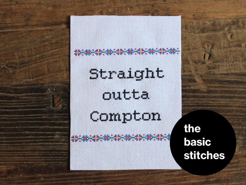 Cross Stitch Kit - Straight outta Compton
