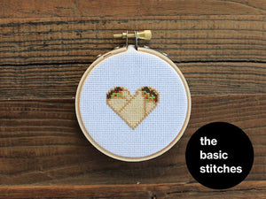 Mini Kit - burrito love - Cross Stitch Ornament