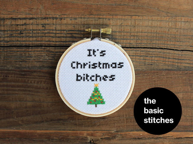 Cross Stitch Pattern - Christmas Ornament - It's Christmas b*tches