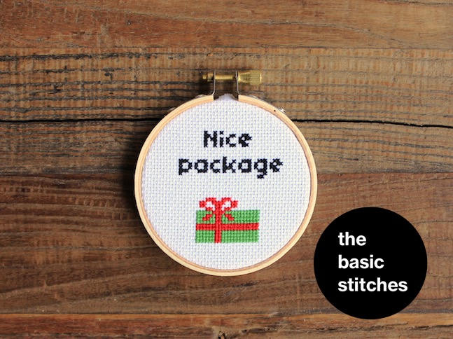 Cross Stitch Pattern - Christmas Ornament - Nice package