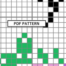 Load image into Gallery viewer, Cross Stitch Pattern - Mini Ornament - f*ck you