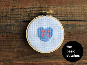 Cross Stitch Pattern - Valentine's Ornament - boy bye