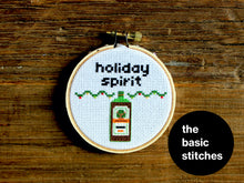 Load image into Gallery viewer, Cross Stitch Pattern - Christmas Ornament - little holiday spirit - jager