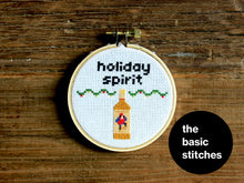 Load image into Gallery viewer, Mini Kit - little holiday spirit - pirate - Cross Stitch Ornament