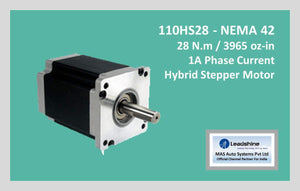Leadshine Hybrid Stepper Motor HS Series - 110HS28 NEMA 42 - MAS Auto Systems Pvt Ltd