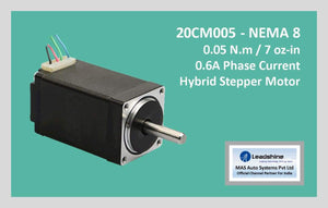 Leadshine Hybrid Stepper Motor CM Series - 20CM005 NEMA 8 - MAS Auto Systems Pvt Ltd