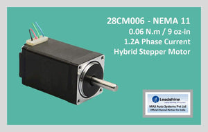 Leadshine Hybrid Stepper Motor CM Series - 28CM006 NEMA 11 - MAS Auto Systems Pvt Ltd
