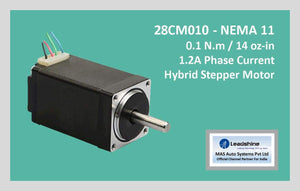 Leadshine Hybrid Stepper Motor CM Series - 28CM010 NEMA 11 - MAS Auto Systems Pvt Ltd