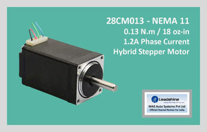 Leadshine Hybrid Stepper Motor CM Series - 28CM013 NEMA 11 - MAS Auto Systems Pvt Ltd