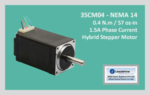 Leadshine Hybrid Stepper Motor CM Series - 35CM04 NEMA 14 - MAS Auto Systems Pvt Ltd