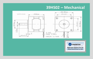 Leadshine Hybrid Stepper Motor HS Series - 39HS02 NEMA 16 - MAS Auto Systems Pvt Ltd