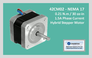 Leadshine Hybrid Stepper Motor CM Series - 42CM02 NEMA 17 - MAS Auto Systems Pvt Ltd
