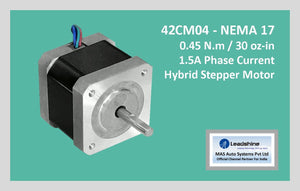 Leadshine Hybrid Stepper Motor CM Series - 42CM04 NEMA 17 - MAS Auto Systems Pvt Ltd