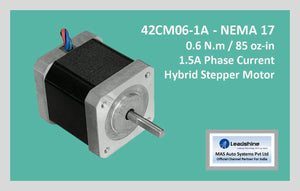 Leadshine Hybrid Stepper Motor CM Series - 42CM06-1A NEMA 17 - MAS Auto Systems Pvt Ltd