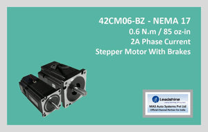 Leadshine Stepper Motor With Brakes 42CM06-BZ NEMA 17 - MAS Auto Systems Pvt Ltd