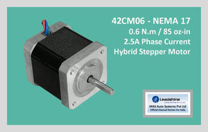 Leadshine Hybrid Stepper Motor CM Series - 42CM06 NEMA 17 - MAS Auto Systems Pvt Ltd
