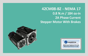 Leadshine Stepper Motor With Brakes 42CM08-BZ NEMA 17 - MAS Auto Systems Pvt Ltd