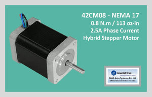 Leadshine Hybrid Stepper Motor CM Series - 42CM08 NEMA 17 - MAS Auto Systems Pvt Ltd