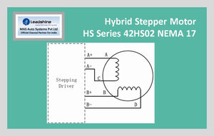 Leadshine Hybrid Stepper Motor HS Series - 42HS02 NEMA 17 - MAS Auto Systems Pvt Ltd