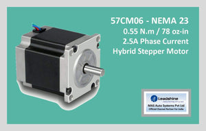Leadshine Hybrid Stepper Motor CM Series - 57CM06 NEMA 23 - MAS Auto Systems Pvt Ltd