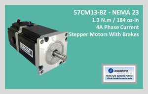 Leadshine Stepper Motor With Brakes 57CM13-BZ NEMA 23 - MAS Auto Systems Pvt Ltd
