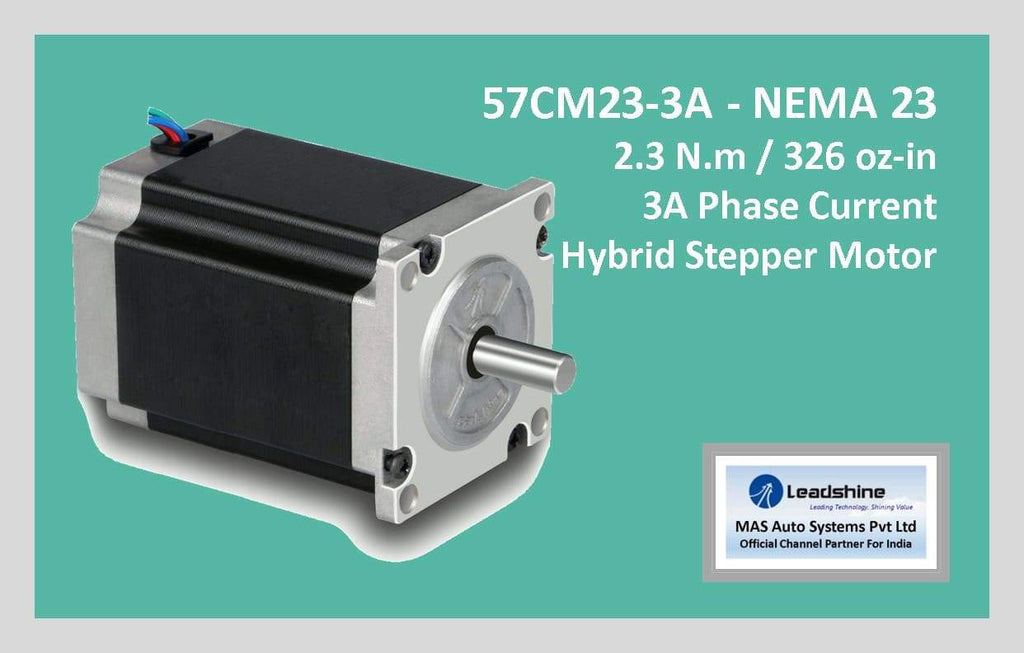 Leadshine Hybrid Stepper Motor CM Series - 57CM23-3A NEMA 23 - MAS Auto Systems Pvt Ltd