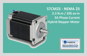 Leadshine Hybrid Stepper Motor CM Series - 57CM23 NEMA 23 - MAS Auto Systems Pvt Ltd