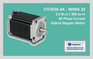 Leadshine Hybrid Stepper Motor CM Series - 57CM26-4A NEMA 23 - MAS Auto Systems Pvt Ltd