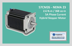 Leadshine Hybrid Stepper Motor CM Series - 57CM26 NEMA 23 - MAS Auto Systems Pvt Ltd