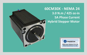Leadshine Hybrid Stepper Motor CM Series - 60CM30X NEMA 24 - MAS Auto Systems Pvt Ltd