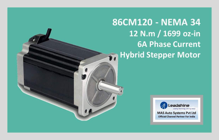 Leadshine Hybrid Stepper Motor CM Series - 86CM120 NEMA 34