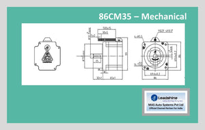 Leadshine Hybrid Stepper Motor CM Series - 86CM35 NEMA 34 - MAS Auto Systems Pvt Ltd