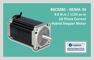 Leadshine Hybrid Stepper Motor CM Series - 86CM80 NEMA 34 - MAS Auto Systems Pvt Ltd