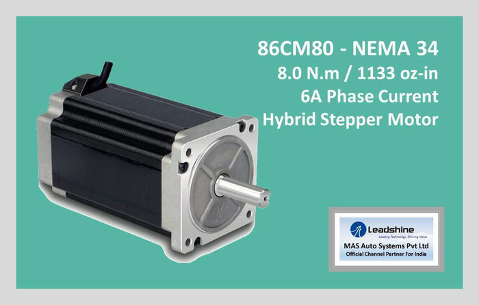 Leadshine Hybrid Stepper Motor CM Series - 86CM80 NEMA 34