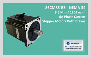 Leadshine Stepper Motor With Brakes 86CM85-BZ NEMA 34 - MAS Auto Systems Pvt Ltd