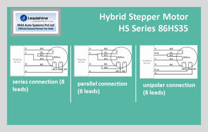 Leadshine Hybrid Stepper Motor HS Series - 86HS35 NEMA 34 - MAS Auto Systems Pvt Ltd