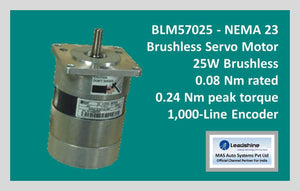 Leadshine Brushless Servo Motor BLM57025 - NEMA 23 - MAS Auto Systems Pvt Ltd