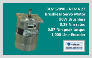 Leadshine Brushless Servo Motor BLM57090 - NEMA 23 - MAS Auto Systems Pvt Ltd