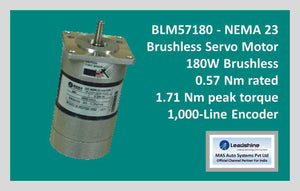 Leadshine Brushless Servo Motor BLM57180 - NEMA 23 - MAS Auto Systems Pvt Ltd