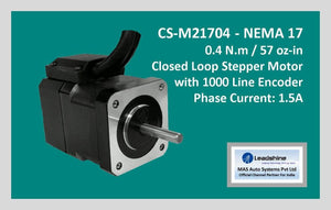 Leadshine Closed Loop Stepper Motor CS-M21704 NEMA 17 - MAS Auto Systems Pvt Ltd