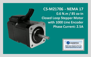 Leadshine Closed Loop Stepper Motor CS-M21706 NEMA 17 - MAS Auto Systems Pvt Ltd